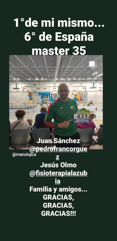Orgullosos de nuestros pacientes: Manolo Jiménez, un campeón.